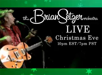 See the Brian Setzer Christmas Show Live (and Free!)