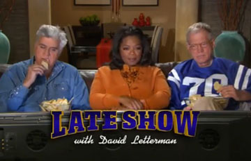 The Letterman/Leno Super Bowl Ad: Nah, They Haven't Kissed and Made Up